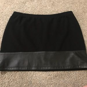 Dresses & Skirts - Black Mini Skirt with Leather Band